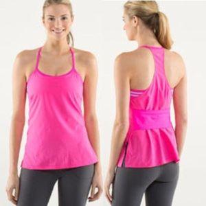 LULULEMON Amped Pink Tank Top Activewear